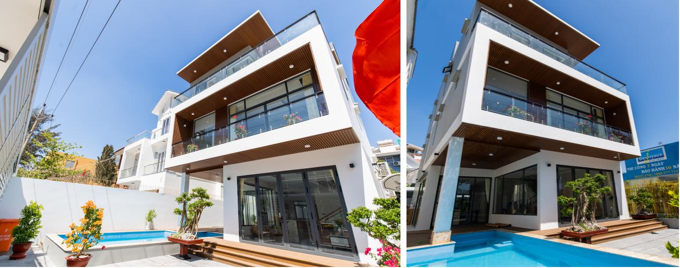 SEA VILLA Luxury 8 phòng + Hồ bơi – Gần biển Bãi Sau